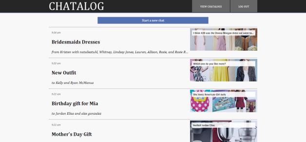 Chatalog list page